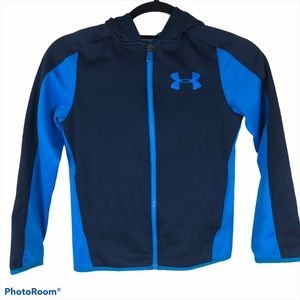Under Armour Blue on Blue Full Zip Hooded Jacket